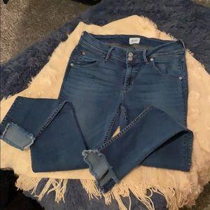 Hudson frayed hem jeans